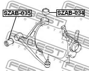 SUZUKI 45500-50810 Control Arm-/Trailing Arm Bush