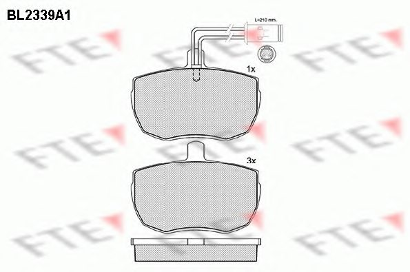 FIAT 7663999 Brake Pad Set, disc brake