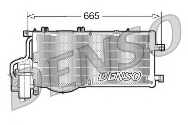 OPEL 1850088 Condenser, air conditioning