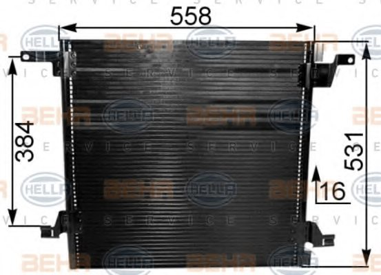 MERCEDES-BENZ 163 830 00 70 Condenser, air conditioning