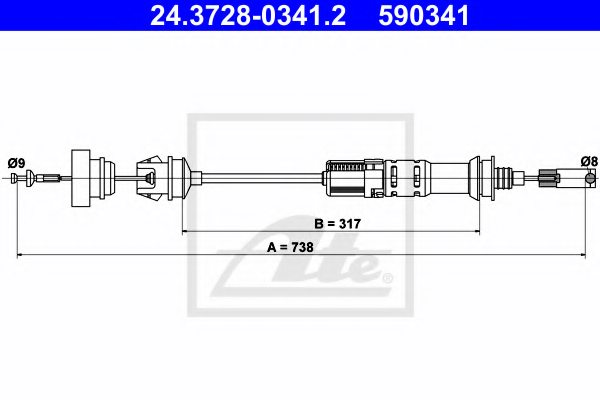 FIAT 1479128080 Clutch Cable