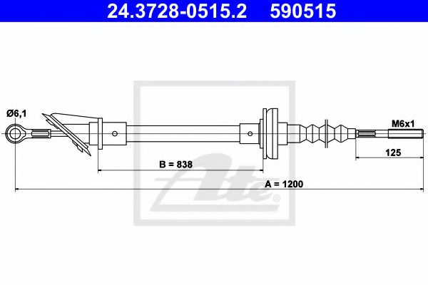 FIAT 7724708 Clutch Cable
