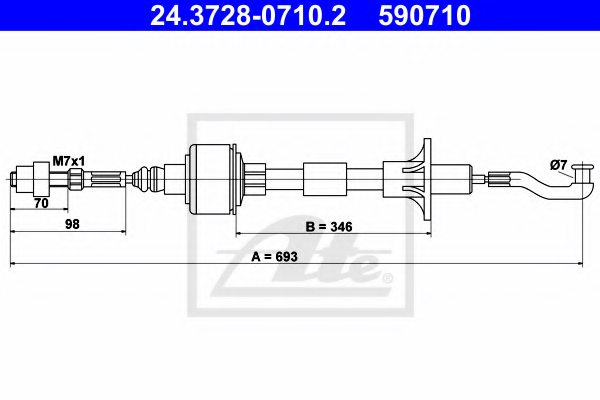 OPEL 6 69 157 Clutch Cable