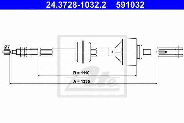 RENAULT 77 00 745 352 Clutch Cable