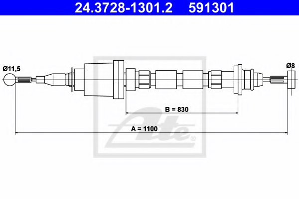 VOLVO 6814279 Clutch Cable