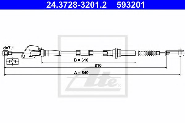 KIA 41510-07120 Clutch Cable