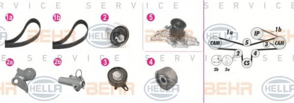 AUDI 059 109 243 J Water Pump & Timing Belt Kit