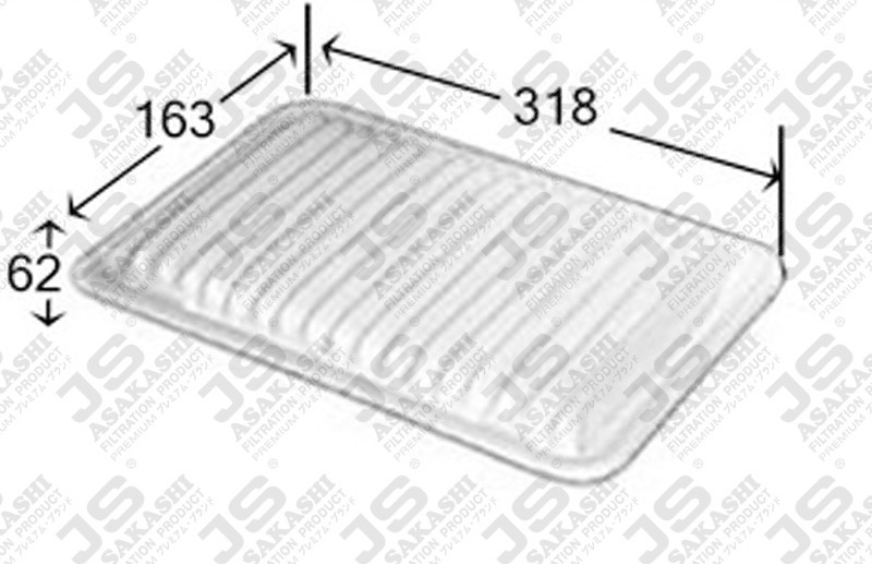 TOYOTA 17801-0G010 Air Filter
