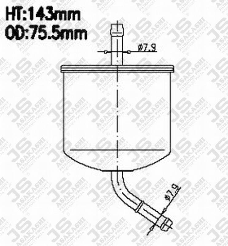 fs1120490a mazda fs1120490a fuel filter for mazda