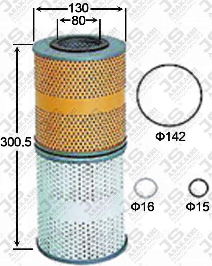 ME054238 ASAKASHI OIL FILTER 6D22 8DC9 2PC SET