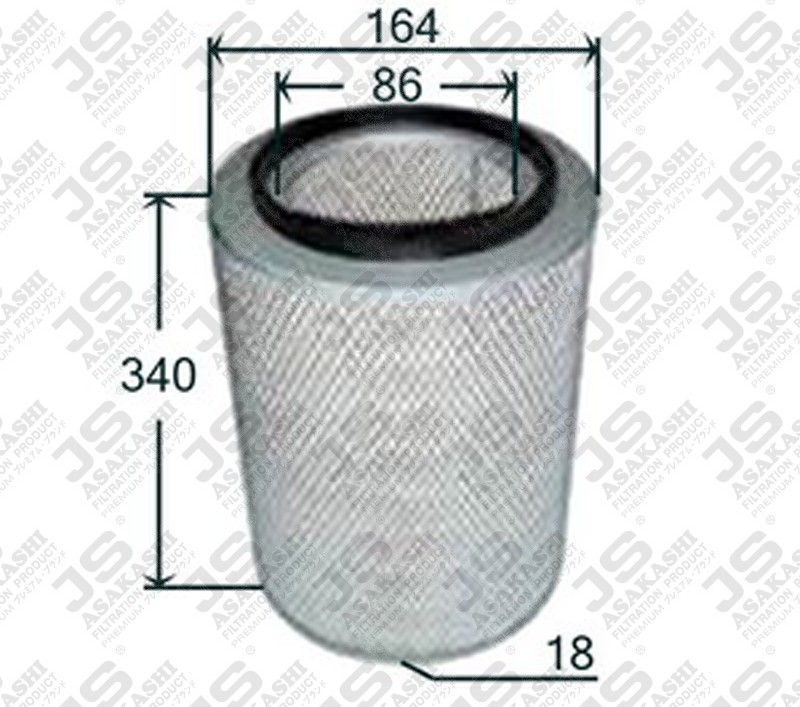 1902127iveco 1902127 Air Filter For Iveco