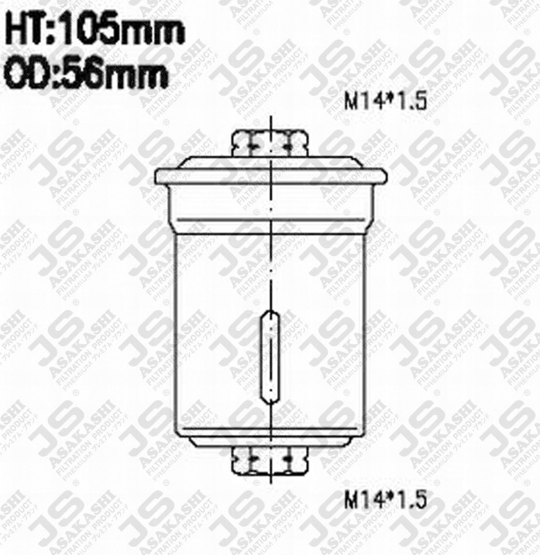 2330062030 Toyot 23300 62030 Fuel Filter For Toyot
